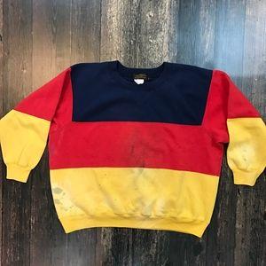 VTG EDDIE BAUER Striped Colorblock Sweatshirt